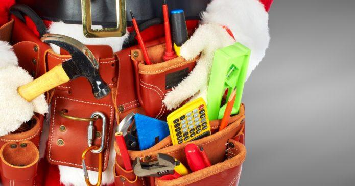 holiday construction santa toolbelt